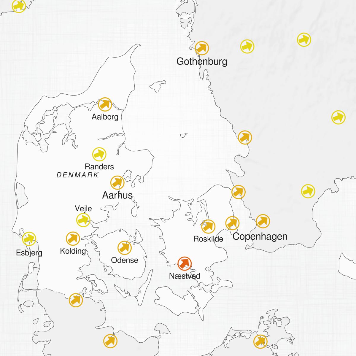 Cities of Denmark