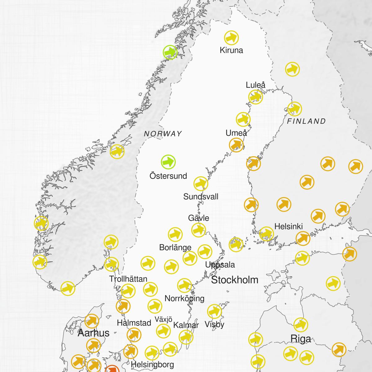 Cities of Sweden