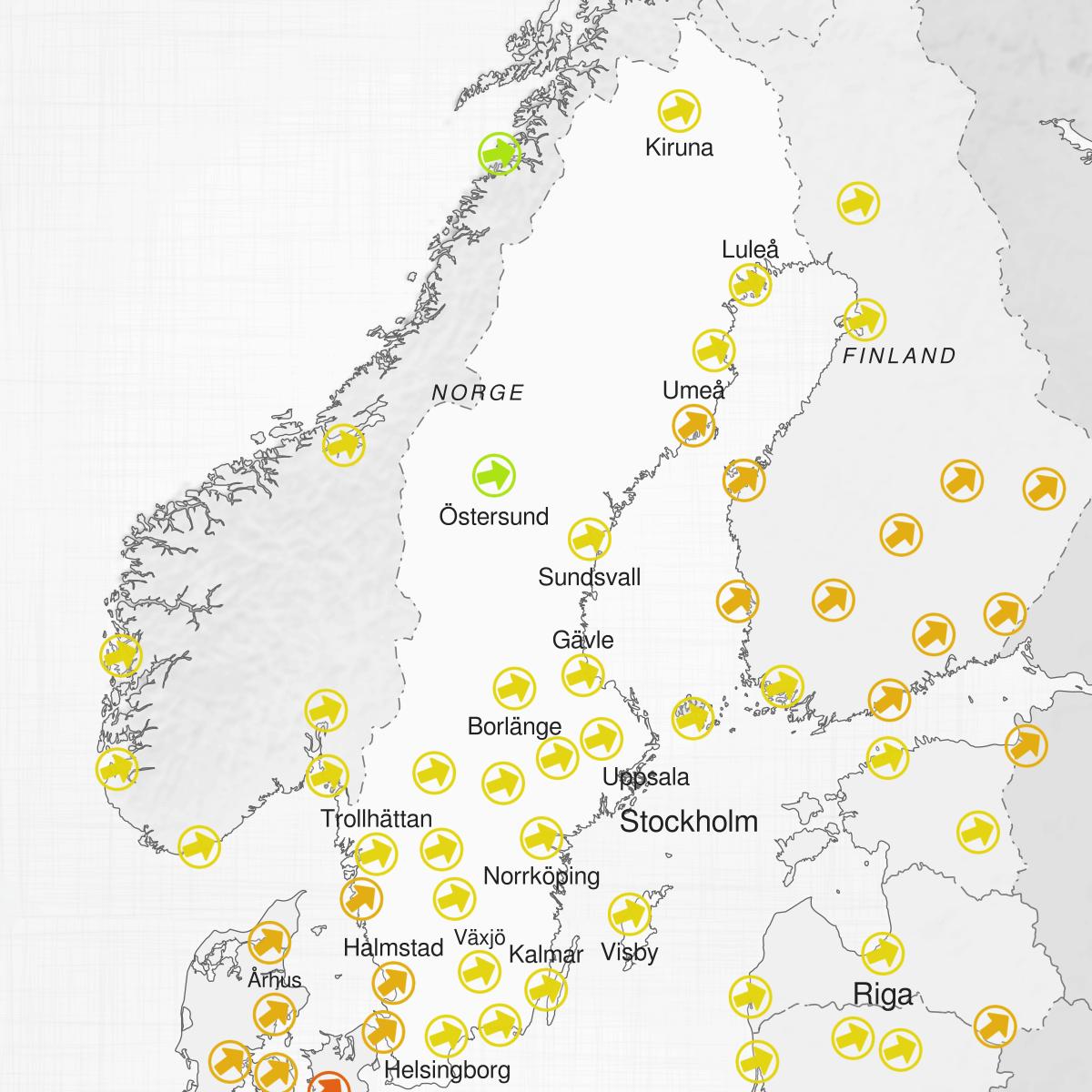 Städer i Sverige